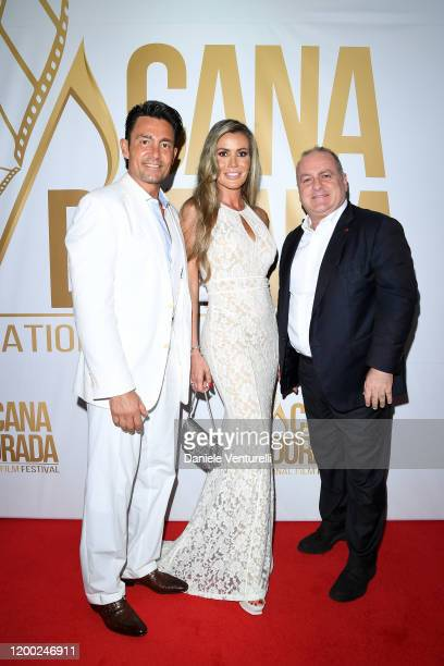 Fernando Colunga Raquel Bernal and Pascal Vicedomini attend Cana Dorada Film Music Festival White Gala Latin Night on January 17 2020 in Punta Cana...