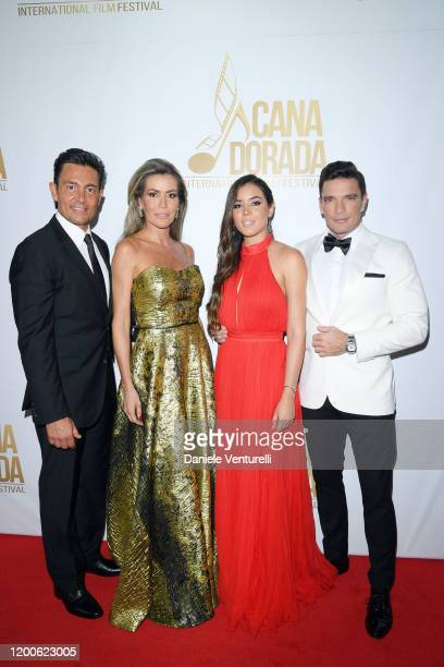 Fernando Colunga Raquel Bernal Raquel Flores and Julián Gil attend Cana Dorada Film Music Festival Closing Gala Dinner Honoring Avi Lerner on January...