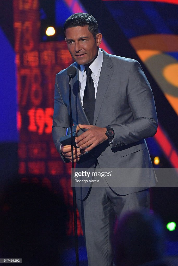 Fernando Colunga speaks onstage during the Univision's 13th Edition Of Premios Juventud Youth Awards at Bank United Center on July 14, 2016 in Miami, Florida.