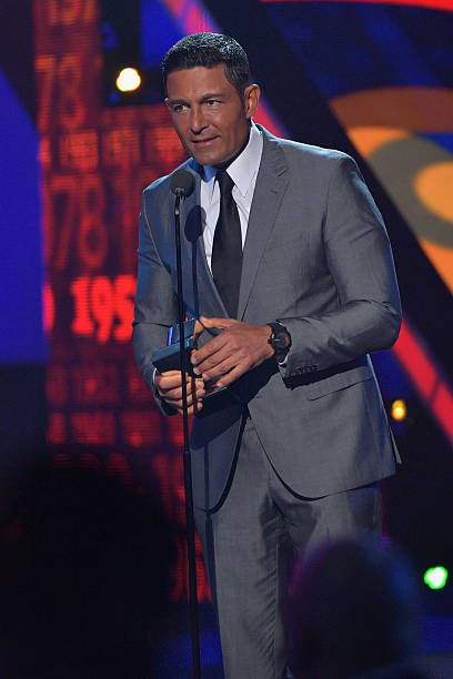 Fernando Colunga speaks onstage during the Univision's 13th Edition Of Premios Juventud Youth Awards at Bank United Center on July 14, 2016 in Miami,...
