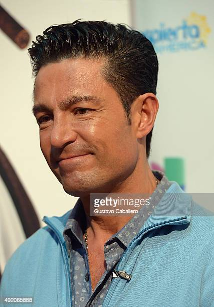 Fernando Colunga visit the set of 'Despierta America' to promote his film 'Ladrones' at Univision Studios on October 9 2015 in Miami Florida