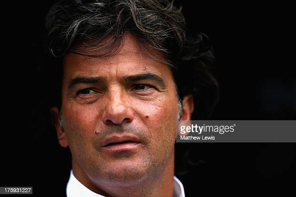 Fernando Couto Assistant manager of Braga looks on during a Pre Season Friendly between Newcastle United and Braga at St James' Park on August 10...