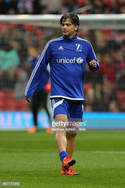 Fernando Couto of Rest of the World XI during the David Beckham Match for Children in aid of UNICEF at Old Trafford on November 14 2015 in Manchester...