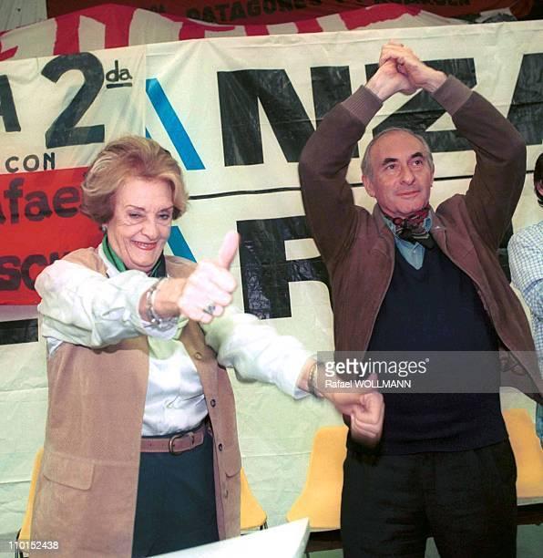 Fernando De La Rua presidential candidate for the 'Alianza' in Argentina on October 18 1999
