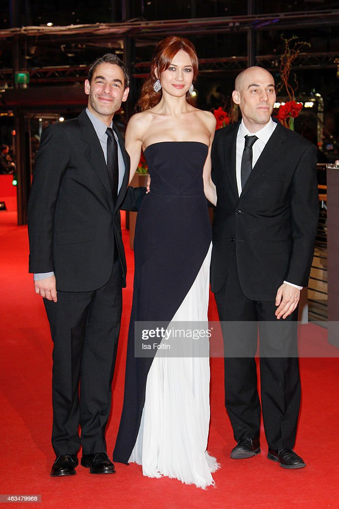 Fernando Eimbcke, Olga Kurylenko and Joshua Oppenheimer attend the Closing Ceremony of the 65th Berlinale International Film Festival on February 14, 2015 in Berlin, Germany.