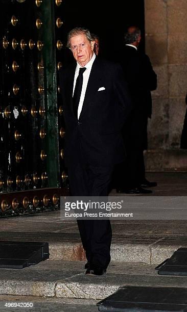 Fernando Falco attends a mass service for Spain's Duke of Calabria, Carlos de Borbon Dos Sicilias on November 12, 2015 in El Escorial, Spain. Carlos...