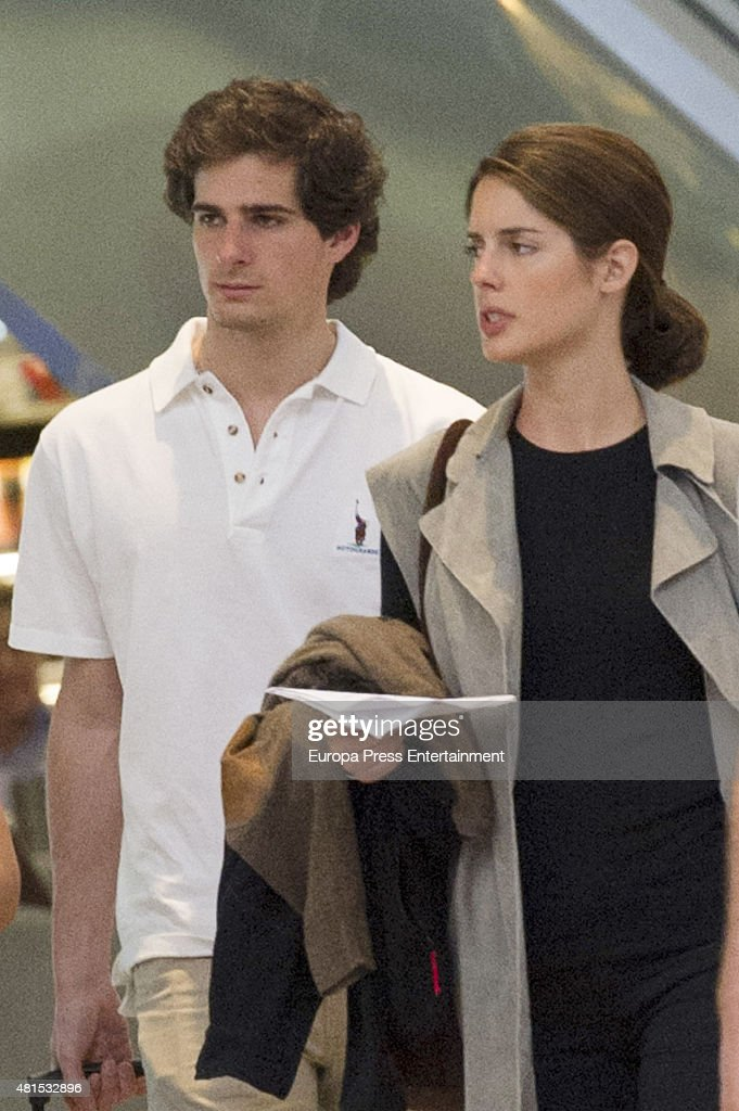 Fernando Fitz-James Stuart and Sofia Palazuelo Sighting In Sotogrande - April 19, 2015 : News Photo
