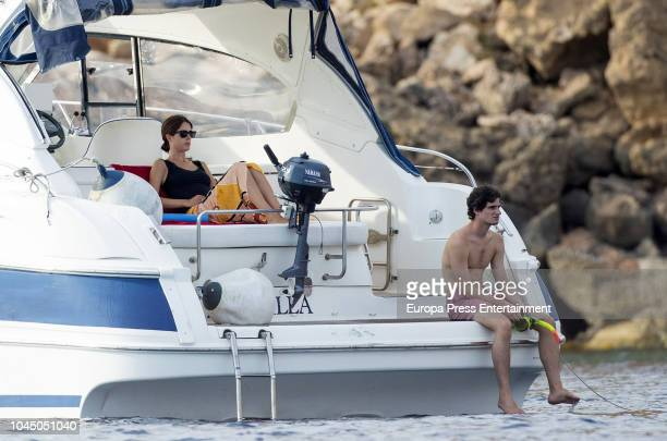 Fernando FitzJames Stuart and Sofia Palazuelo are seen on August 21 2018 in Ibiza Spain