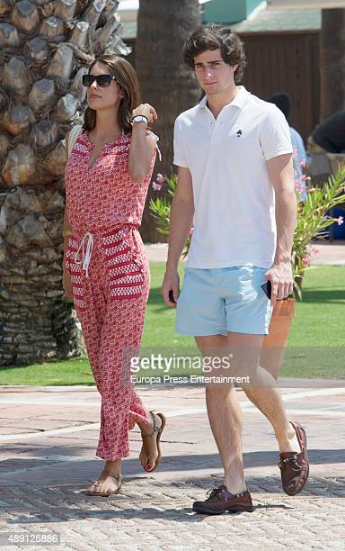 Fernando FitzJames Stuart and Sofia Palazuelo are seen on July 25 2015 in Sotogrande Spain
