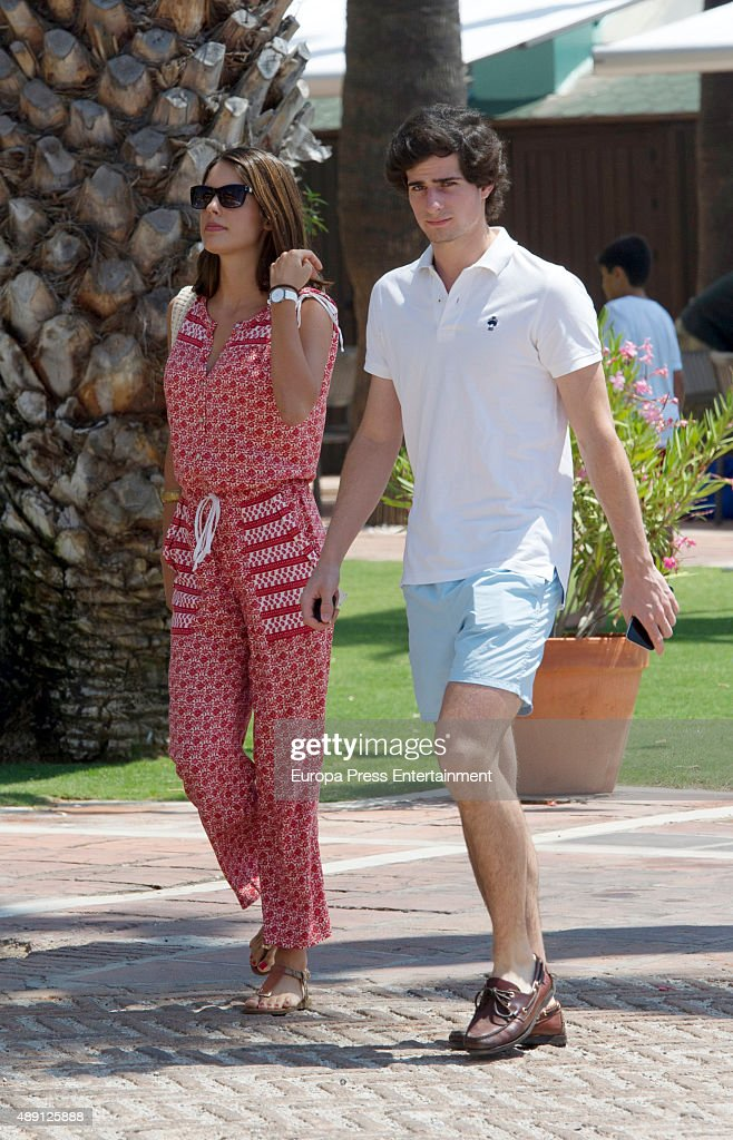 Fernando Fitz-James Stuart and Sofia Palazuelo Sighting In Sotogrande - July 25, 2015 : News Photo