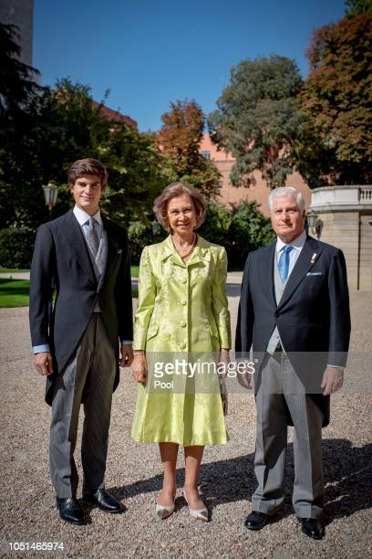 Fernando FitzJames Stuart Queen Sofia of Spain and Fernando FitzJames Stuart attend the wedding of Fernando FitzJames Stuart and Sofia Palazuelo at...