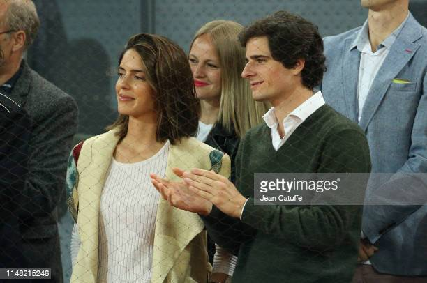 Fernando FitzJames Stuart y Solís and Sofia Palazuelo attend the last match of David Ferrer of Spain on tour against Alexander Zverev of Germany on...