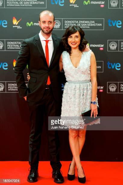 Fernando Franco and Spanish actress Marian Alvarez attend 'La Herida' premiere at Kursaal during 61st San Sebastian Film Festival on September 27,...