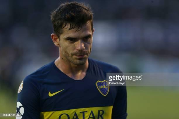 Fernando Gago of Boca Juniors leaves the field at the end of a match between Gimnasia y Esgrima La Plata and Boca Juniors at Juan Carmelo Zerillo...