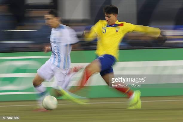 Fernando Gaibor Ecuador in action during the Argentina Vs Ecuador International friendly football match at MetLife Stadium New Jersey USA 15th...