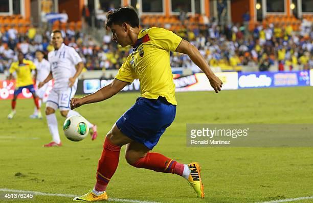 Fernando Gaibor of Ecuador during an international friendly match at BBVA Compass Stadium on November 19 2013 in Houston Texas