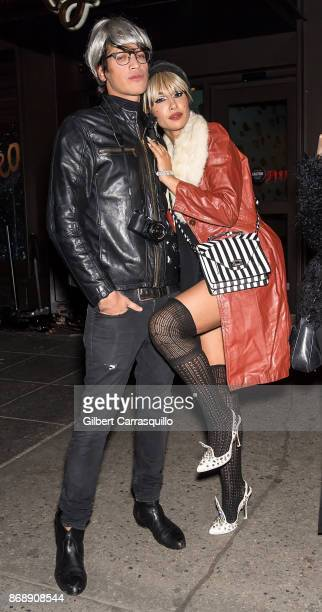 Fernando Garcia and actress Jackie Cruz are seen during Heidi Klum's 18th Annual Halloween Party at Magic Hour Rooftop Bar Lounge on October 31 2017...