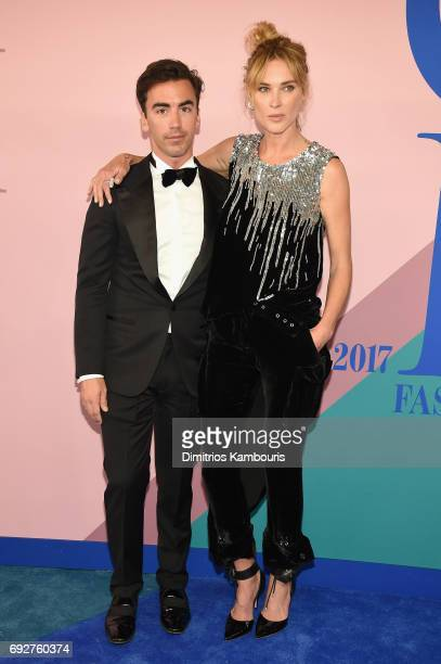 Fernando Garcia and Erin Wasson attend the 2017 CFDA Fashion Awards at Hammerstein Ballroom on June 5 2017 in New York City