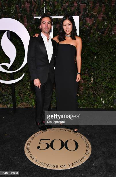 Fernando Garcia and Laura Kim arrives at the #BoF500 gala dinner during New York Fashion Week Spring/Summer 2018 at Public Hotel on September 9 2017...