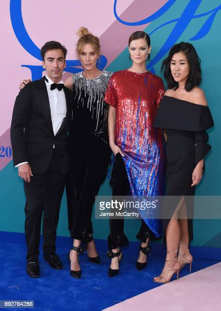 Fernando Garcia Erin Wasson Kasia Struss and Laura Kim attend the 2017 CFDA Fashion Awards at Hammerstein Ballroom on June 5 2017 in New York City