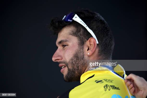 Fernando Gaviria of Colombia and Team Quick-Step Floors celebrates in the Amgen Race Leader jersey after winning stage one of the 13th Amgen Tour of...