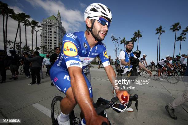 Fernando Gaviria of Colombia and Team Quick-Step Floors celebrates after winning stage one of the 13th Amgen Tour of California 2018 a 134,5km stage...