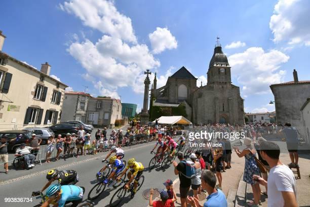 Fernando Gaviria of Colombia and Team Quick-Step Floors Yellow Leader Jersey / Julian Alaphilippe of France and Team Quick-Step Floors / La...