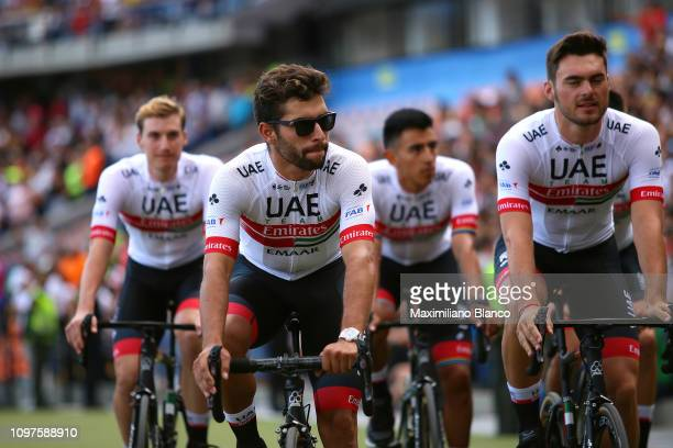 Fernando Gaviria of Colombia and Uae Team Emirates / during the 2nd Tour of Colombia 2019 Team Presentation / Atanasio Girardot Stadium /...