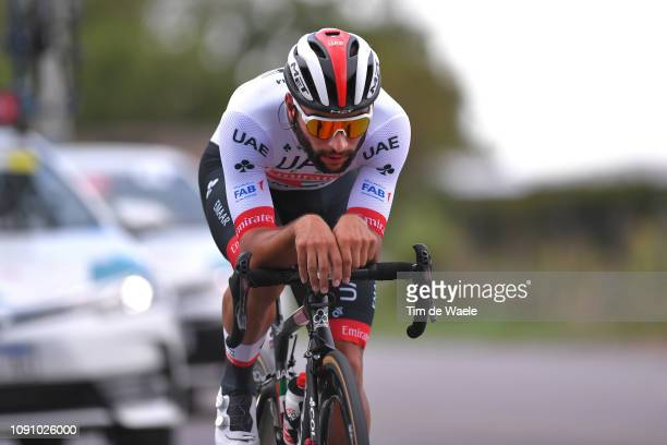 Fernando Gaviria of Colombia and UAE Team Emirates / during the 37th Tour of San Juan 2019 Stage 3 a 12km Individual Time Trial stage from Pocito to...