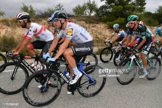 Fernando Gaviria of Colombia and UAE Team Emirates / Maximiliano Ariel Richeze of Argentina and Team DeceuninckQuickStep / Quentin Jauregui of France...