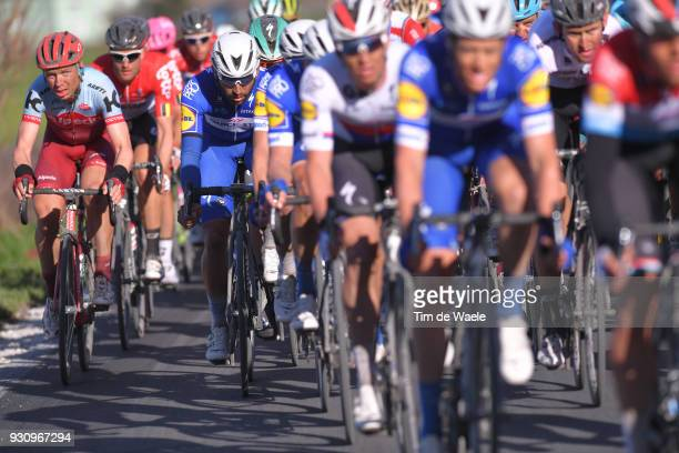 Fernando Gaviria of Colombia Tony Martin of Germany during the 53rd TirrenoAdriatico 2018 Stage 6 a 153km stage from Numana to Fano on March 12 2018...