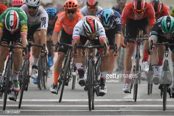 Fernando GAVIRIA RENDON of Colombia and UAE Team Emirates finishing second Sharjah Fifth Stage of UAE Tour 2019, a 181km with a start from...