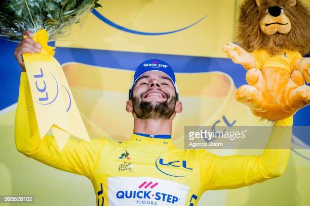 Fernando Gaviria Rendon of team QuickStep takes 1st place during the stage 01 of the Tour de France 2018 on July 7 2018 in FontenayleComte France