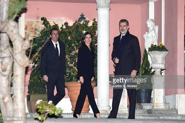 Fernando Gomez Acebo Queen Letizia of Spain and King Felipe VI of Spain attend Princess Pilar de Borbon Funeral Chapel on January 08 2020 in Madrid...