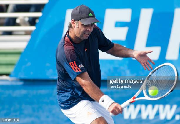 Fernando Gonzalez defeats Mardy Fish during the ATP Masters Tour at the Delray Beach Open on February 18, 2017 at Delray Beach Stadium & Tennis...