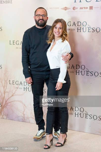 Fernando Gonzalez Molina and Marta Etura attend the 'Legado en los huesos' photocall at Hotel Urso on November 25 2019 in Madrid Spain