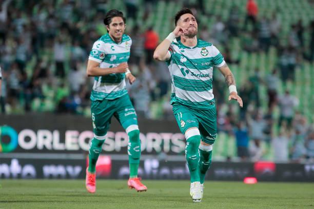 MEX: Santos Laguna v Queretaro - Playoff Torneo Guard1anes 2021 Liga MX