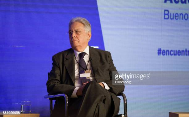 Fernando Henrique Cardoso former president of Brazil listens during the Montevideo Circle Foundation Summit in Buenos Aires Argentina on Thursday May...