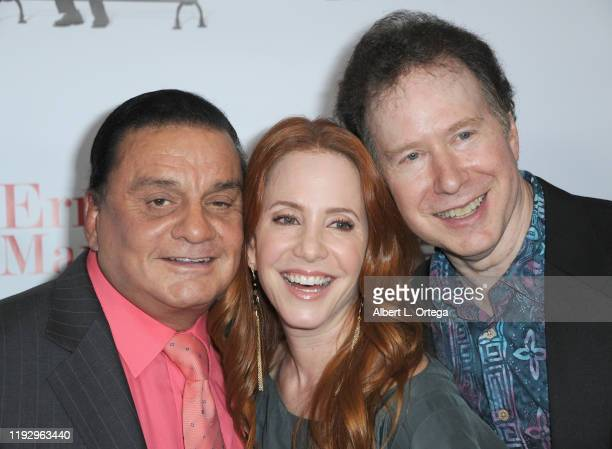 Fernando Hidalgo Amy Davidson and David M Matthews arrive for the Premiere Of Ernesto Manifesto held at TCL Chinese 6 Theatres on January 9 2020 in...