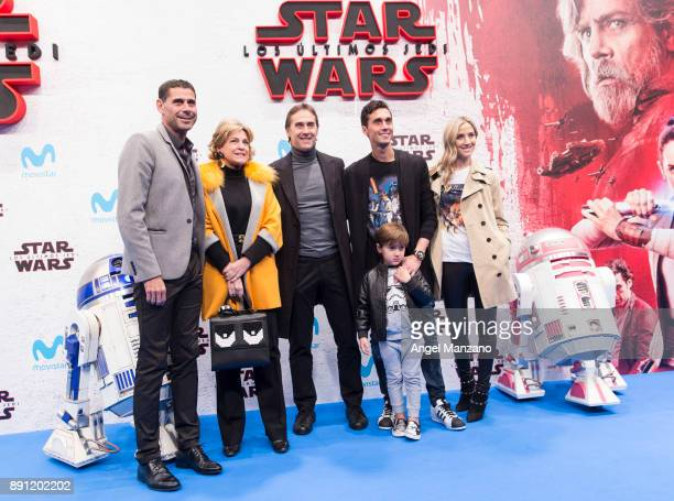 Fernando Hierro Julen Lopetegui and Alvaro Arbeloa attend the 'Star Wars Los Ultimos Jedi' Madrid Premiere at Kinepolis Cinema on December 12 2017 in...