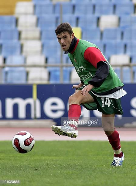 Fernando in action during Maritimo training session in Funchal Portugal on January 25 2007