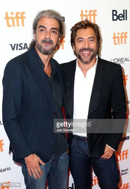 Fernando Leon de Aranoa and Javier Bardem attend the Loving Pablo premiere during the 2017 Toronto International Film Festival at Princess of Wales...