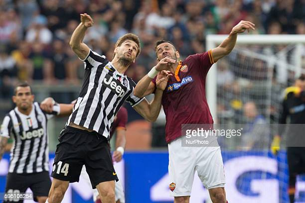 Fernando Llorente and Castan during the Serie A match between AS Roma and FC Juventus on May 11 at Rome's Olympic Stadium