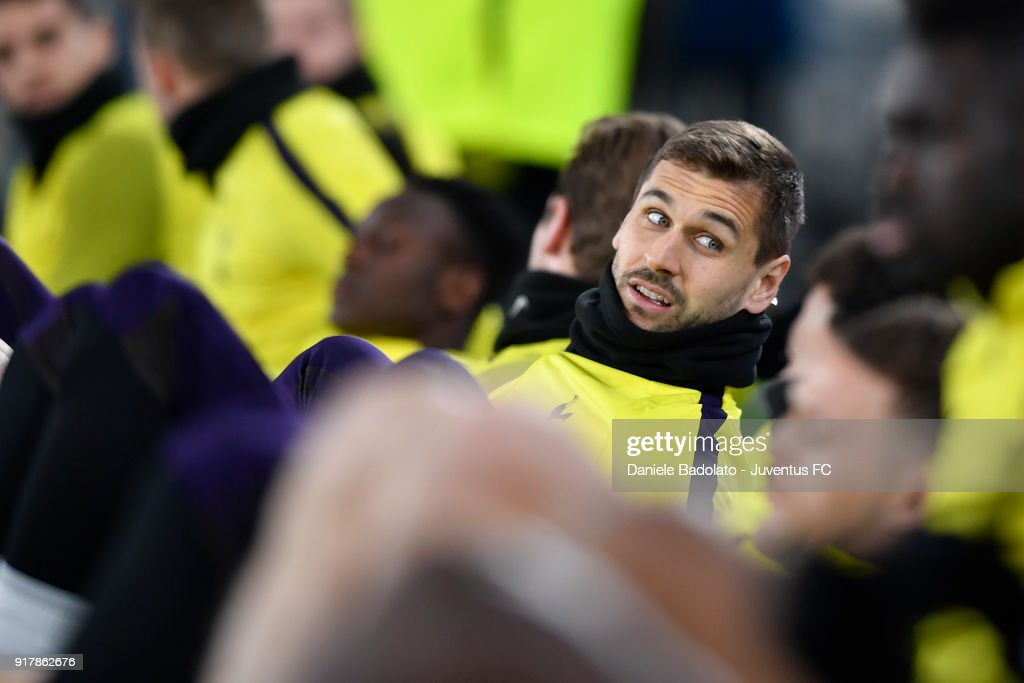 Fernando Llorente during the Champions League Tottenham FC training session at Allianz Stadium on February 12, 2018 in Turin, Italy.
