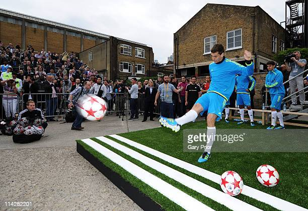Fernando Llorente of Atheltic Bilbao attends the launch of the new adidas Predator boot at the Truman Brewery on May 17 2011 in London England on May...