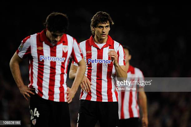Fernando Llorente of Athletic Bilbao looks on during the La Liga match between FC Barcelona and Athletic Bilbao at Camp Nou on February 20 2011 in...