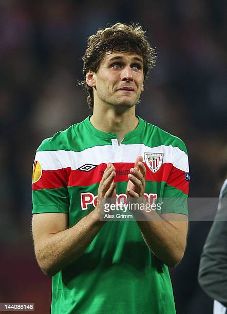 Fernando Llorente of Athletic Bilbao shows his dejection at the end of the UEFA Europa League Final between Atletico Madrid and Athletic Bilbao at...