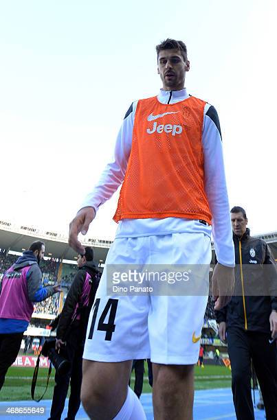 Fernando Llorente of Juventus before the Serie A match between Hellas Verona FC and Juventus at Stadio Marc'Antonio Bentegodi on February 9 2014 in...
