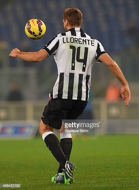 Fernando Llorente of Juventus FC in action during the Serie A match between SS Lazio and Juventus FC at Stadio Olimpico on November 22 2014 in Rome...