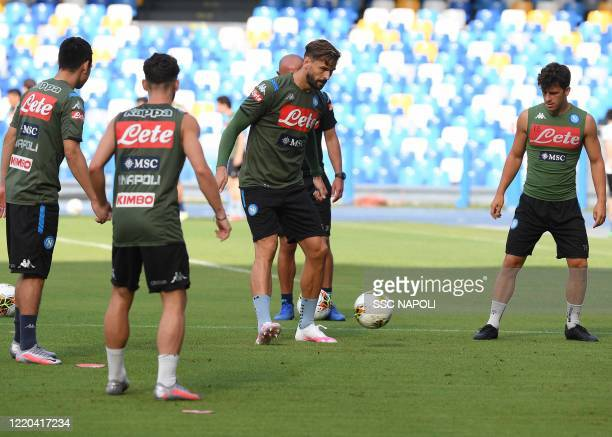 Fernando Llorente of Napoli during a training session at the Stadio San Paolo on June 16 2020 in Naples Italy